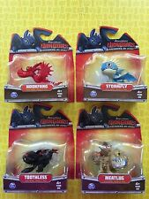 HOW TO TRAIN YOUR DRAGON LOT 4 TOOTHLESS MEATLUG STORMFLY HOOKFANG MINI DRAGONS
