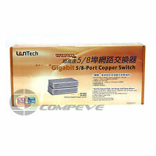 Lantech GE-5003 Gigabit 1000Mbps 8 Ports Copper Switch LAN Ethernet 8370-120