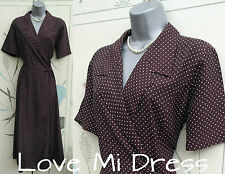 Next - 40's Style Polka Dot Wrap Tea Dress Sz 14 EU42