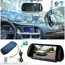 "HD 7"" TFT LCD Car SUV Rear View Mirror Monitor w/ Bluetooth MP5/FM/USB & SD Slot"