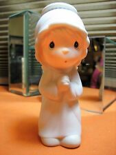 Precious Moments Xmas NATIVITY The FIRST Noel E2366 Girl Angel hourglass 1982
