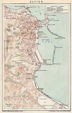 ALGIER Hafen Alger Stadtplan  ORIG. von 1894