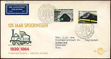 Netherlands 1964 Railways FDC First Day Cover #C27162