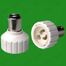 Small Bayonet SBC B15 To GU10 Light Bulb Adaptor Lamp Socket Converter Holder