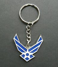 US AIR FORCE USAF WINGS METAL ENAMEL KEYRING KEY CHAIN 1.5 INCHES