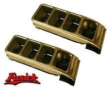 1957 Oldsmobile Dual Exhaust Tip Bumper Ornament Set Olds 57