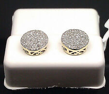 Flawless 10 K Yellow Gold With 0.50 CT Round Diamond Earring For Men/Women