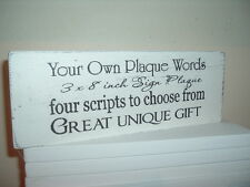 Shabby your own words personalised plaque/sign chic n unique