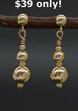 #BE-166 New 14K Solid Yellow Gold earrings $39 only!!  $39 only!!  $39 only!!
