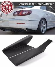 "18"" G3 Rear Bumper Lip Downforce Apron Splitter Diffuser Canard For Mazda Subaru"