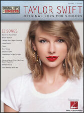 Taylor Swift Original Keys for Singers Piano Vocal Sheet Music Book