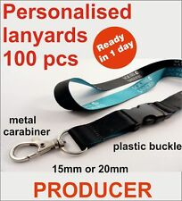 BEST OFFER 100 pcs Personalised lanyards with plastic buckle & your logo