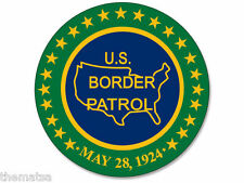 "4"" BORDER PATROL SEAL LOGO HELMET CAR BUMPER DECAL STICKER MADE IN USA"