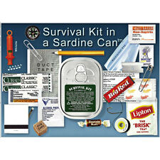Survival Kit In A Sardine Can - Camping, Hiking, Traveling, Outdoors, Waterproof