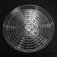 "5 Pieces 14"" Plant Saucers Vinyl Plastic Tray Clear Other Quantities Listed Sep"