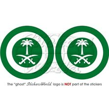 "SAUDI ARABIA AirForce RSAF Aircraft Roundel 75mm (3"") Stickers Decals x2"
