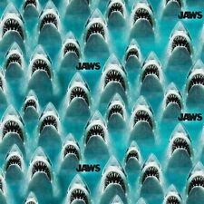 Classic Jaws Great White Shark Movie Universal Studios Cotton Fabric Fat Quarter