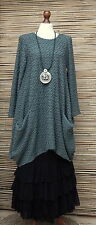 LAGENLOOK OVERSIZE*MB GERMANY*QUIRKY BOHO WAFFLE EFFECT TUNIC*SIZE 1 L-XL