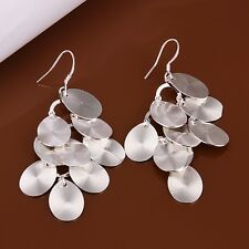 925 Sterling Silver Drop Dangle Chandelier Hook Earrings L12