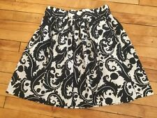 Banana Republic Milly Collection Navy & White Floral Print A-line Skirt Size 2
