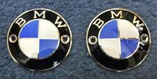 1 Paar 2 Stück BMW Tankplaketten  emailiert bis 1970 Tankwappen