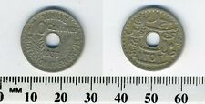Tunisia 1933 (1352) - 10 Centimes Nickel-Bronze Coin - Center hole