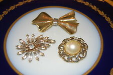 WONDERFUL VINTAGE SET OF THREE ASSORTED PINS OR BROOCHES AS PER PICTURES # M-006