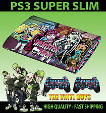 Playstation Ps3 Super Slim Monster High Vampire Wolf Skin Sticker & 2 Pad Skin