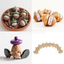 Wooden Acorns Unfinished Wooden Peg Charms Pendants DIY Ornament Pack of 10