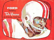 1962 Ford Tele-Viewer Football magazine, 1962 NFL and NCAA Televised Games