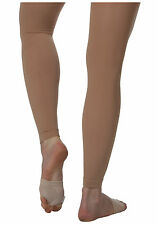 Body Wrappers C33 Girls' Size Small/Medium Suntan Footless Tights