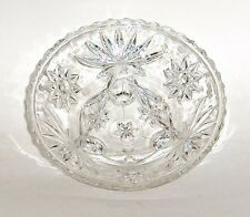 Crystal, 3 footed bowl - Great as Holiday centerpiece candleholder - see photos