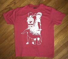 Naruto Shippuden T Shirt Men's Size XL Jump Ripple Junction Excellent Red