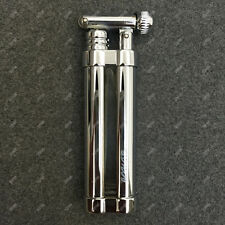 Portable Refillable Cigarette Cigar Pipe Cylinder Flint Wheel Lighter Silver