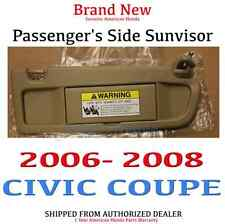 2006-2008 CIVIC COUPE OEM Honda Civic Passenger's Side Pearl Ivory Sunvisor