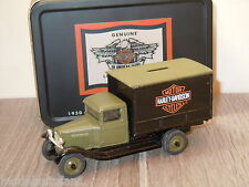 1930 Chevy Delivery Truck Dime Bank Harley Davidson van Ertl in Box 1:43 *16028