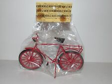 CONCORD DOLL HOUSE MINIATURE RED BICYCLE BIKE - FREE US SHIPPING!