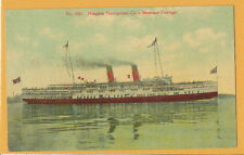 Streamer Cayuga Postcard - Niagara Navigation Company