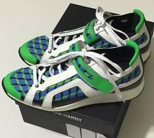 NIB PIERRE HARDY Men's GUM CALF COTTON CUBE/MULTI CUBE SNEAKERS Size US 12