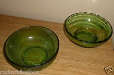 vintage E.O. Brody Co. bowls Cleveland set of 2 green glass USA