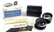 YASHICA CONVERSION LENS FOR ELECTRO 35 IN CASE W/TELEPHOTO   MACRO LENS IN BOX