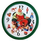 Musical Singing Xmas Santa Claus Decorative Wall Clock Plays 12 Christmas Carols
