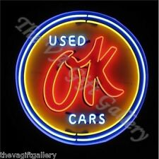 Ok Used Cars Neon Light Retail Store Window Front Sign Sales Dealer Shop  16x16
