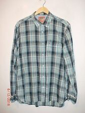 Mens REPLAY Jeans Long Sleeve Check Shirt Size XL Authentic