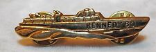 1960 John F. Kennedy PT-109 Boat Campaign Gold Lapel Pin FREE SHIPPING IN USA