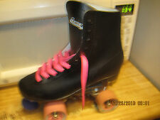 Women Size 10 Black  & Pink Heel to toe   10  1/2in. Roller Skates