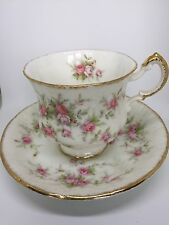 "Vintage Paragon Bone China Tea Cup & Saucer ""Victoriana Rose"" Pattern"