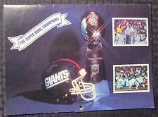 1987-88 Super Bowl Champions NY GIANTS Calandar FVF