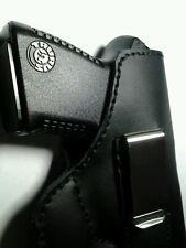 In the waistband IWB holster glock 42 43 with crimson trace laser black leather