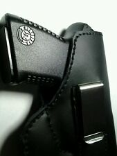 Iwb holster ruger lc9 s&w shield pf9 glock 42 springfield xds black leather